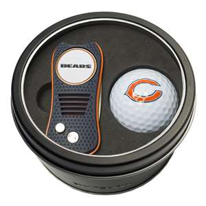 Chicago Bears Golf Tin Set - Switchblade, Golf Ball