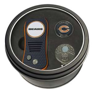Chicago Bears Golf Tin Set - Switchblade, Cap Clip, Marker 30557