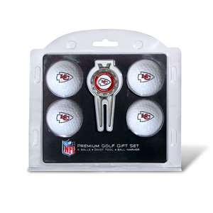 Kansas City Chiefs Golf 4 Ball Gift Set 31406