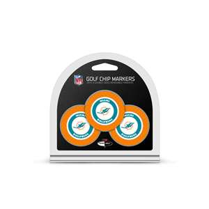 Miami Dolphins Golf 3 Pack Golf Chip 31588