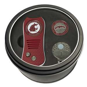 Washington State University Cougars Golf Tin Set - Switchblade, Cap Clip, Marker 46257