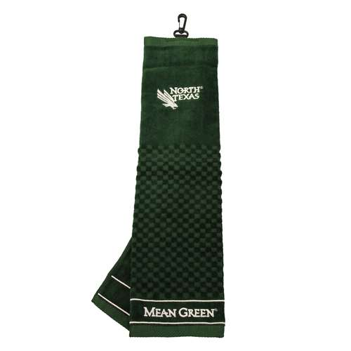 North Texas State University Mean Green Golf Embroidered Towel 50210