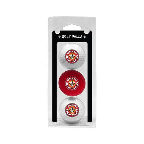 University of Louisiana Lafayette Ragin Cagin Golf 3 Ball Pack 60705