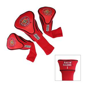University of Louisiana Lafayette Ragin Cagin Golf 3 Pack Contour Headcover 60794