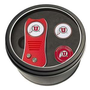 University of Utah Utes Golf Tin Set - Switchblade, 2 Markers 80559