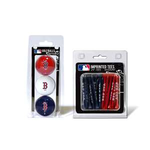 Boston Red Sox  3 Golf Balls And 50 Golf Tees