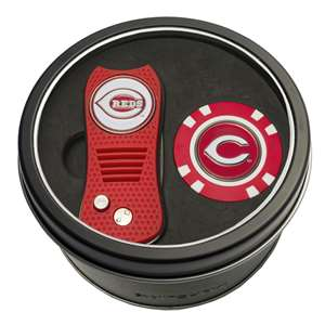 Cincinnati Reds Golf Tin Set - Switchblade, Golf Chip