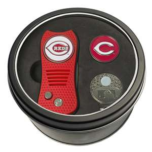 Cincinnati Reds Golf Tin Set - Switchblade, Cap Clip, Marker 95657