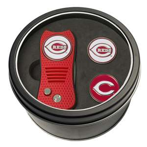 Cincinnati Reds Golf Tin Set - Switchblade, 2 Markers 95659