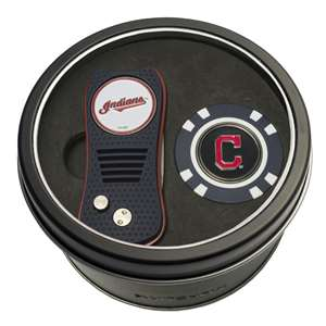 Cleveland Indians Golf Tin Set - Switchblade, Golf Chip