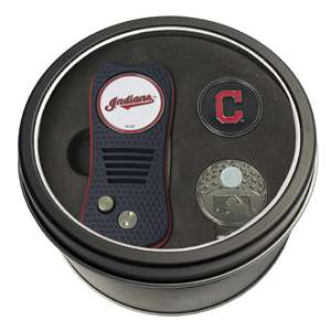 Cleveland Indians Golf Tin Set - Switchblade, Cap Clip, Marker 95757