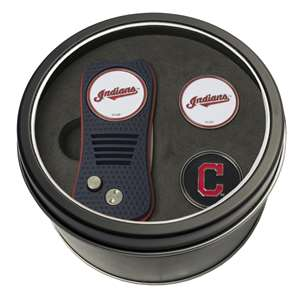 Cleveland Indians Golf Tin Set - Switchblade, 2 Markers 95759