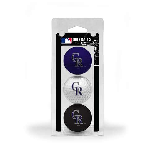 Colorado Rockies Golf 3 Ball Pack 95805