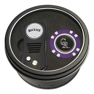 Colorado Rockies Golf Tin Set - Switchblade, Golf Chip