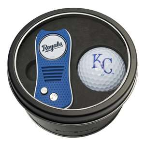 Kansas City Royals Golf Tin Set - Switchblade, Golf Ball