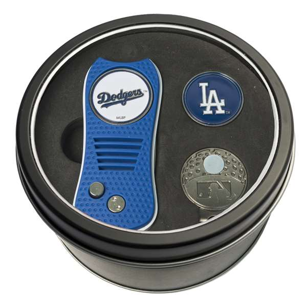 Los Angeles Dodgers Golf Tin Set - Switchblade, Cap Clip, Marker 96357