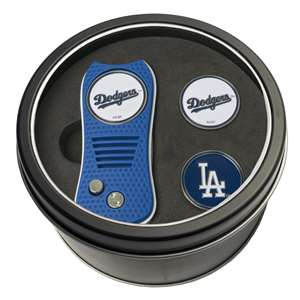 Los Angeles Dodgers Golf Tin Set - Switchblade, 2 Markers 96359
