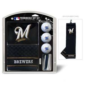 Milwaukee Brewers Golf Embroidered Towel Gift Set 96520