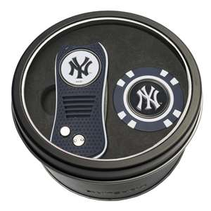 New York Yankees Golf Tin Set - Switchblade, Golf Chip