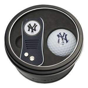New York Yankees Golf Tin Set - Switchblade, Golf Ball