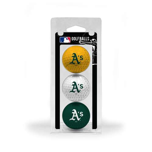 Oakland Athletics A's Golf 3 Ball Pack 96905