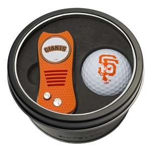 San Francisco Giants Golf Tin Set - Switchblade, Golf Ball