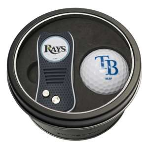 Tampa Bay Rays Golf Tin Set - Switchblade, Golf Ball