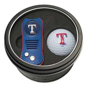 Texas Rangers Golf Tin Set - Switchblade, Golf Ball