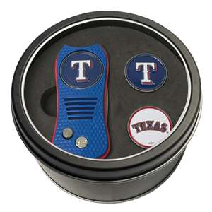 Texas Rangers Golf Tin Set - Switchblade, 2 Markers 97759