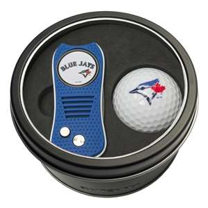 Toronto Blue Jays Golf Tin Set - Switchblade, Golf Ball
