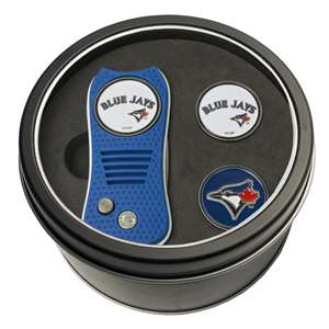 Toronto Blue Jays Golf Tin Set - Switchblade, 2 Markers 97859