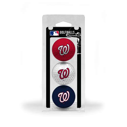 Washington Nationals Golf 3 Ball Pack 97905