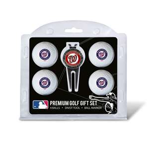 Washington Nationals Golf 4 Ball Gift Set 97906