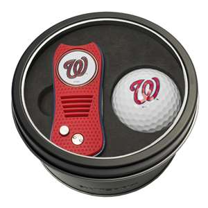 Washington Nationals Golf Tin Set - Switchblade, Golf Ball