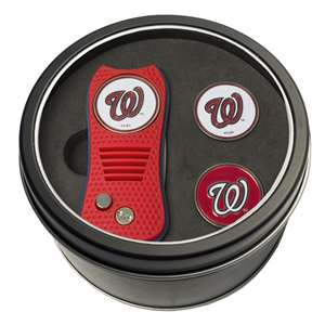 Washington Nationals Golf Tin Set - Switchblade, 2 Markers 97959