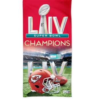 Kansas City Chiefs Super Bowl LIV 54 Champions  Beach Towel 30 X 60 Inches