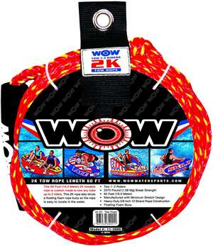WOW 2K 60' Tow Rope Towable Lake Float