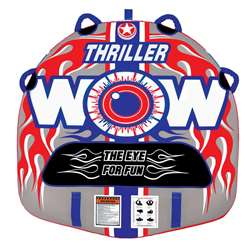 WOW THRILLER 1P STARTER KIT - includes 12V Pump & 1K Tow Rope Towable Lake Float