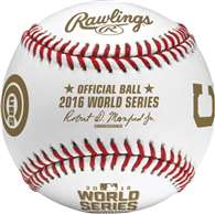 Rawlings 2016 Official MLB World Series Game Baseball Chicago Cubs vs Cleveland Indians - Cubed