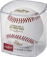 Rawlings 2017 Official MLB World Series Baseball in Display Cube
