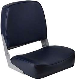 Wise Super Value Folding Low Back  Fishing Boat Seat Navy
