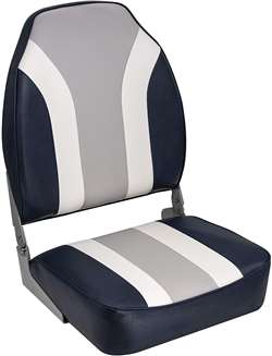 Wise Classic High Back Boat Seat Wise Blue-Wise Gray-Wise White
