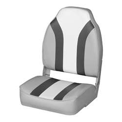 Wise Classic High Back Boat Seat Wise Gray Dawn-Wise Charcoal-Opal White