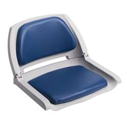 Wise Cushioned Molded Plastic Shell Fold Down Boat Seat Blue/Grey Shell