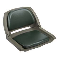 Wise Cushioned Molded Plastic Shell Fold Down Boat Seat Green/Green Shell
