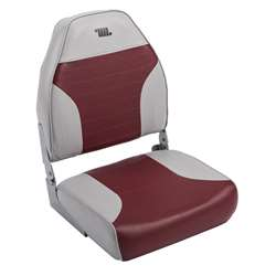 Wise Mid Back Boat Seat Wise Gray-Wise Red