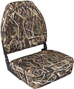 Wise Camo High Back  Boat Seat - Shadowgrass Blades