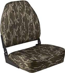 Wise Camo High Back  Boat Seat - Original Bottomland