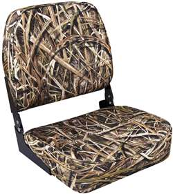 Wise Camo Low Back  Boat Seat - Shadowgrass Blades