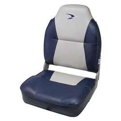Wise Lund Style High Back Fishing Boat Seat Grey/Navy